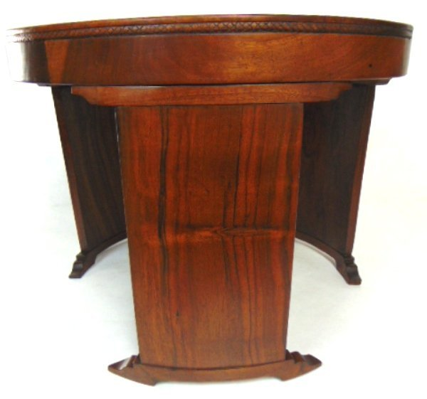 ANTIQUE ART DECO DANISH MODERN STYLE ROSEWOOD TABLE