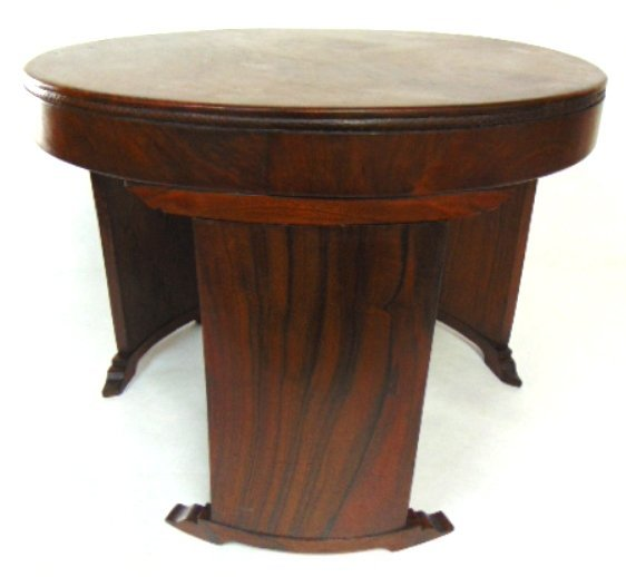 ANTIQUE ART DECO DANISH MODERN STYLE ROSEWOOD TABLE - 2