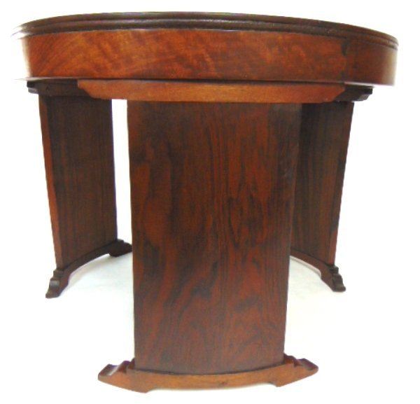 ANTIQUE ART DECO DANISH MODERN STYLE ROSEWOOD TABLE - 4
