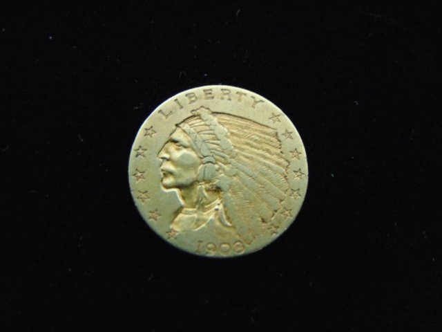 ESTATE FIND 1908 INDIAN HEAD $2.5 GOLD COIN