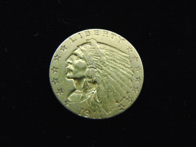 ESTATE FIND 1911 INDIAN HEAD $2.5 GOLD COIN