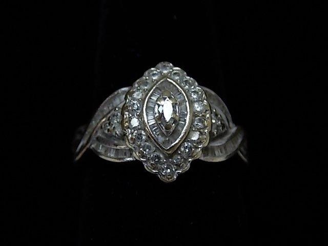 Vintage Estate 14K Gold Womens Ring w/ Diamond