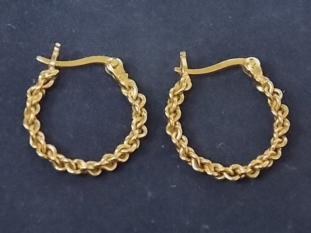 Antique Pair .925 Sterling Silver Gold Tone Earrings