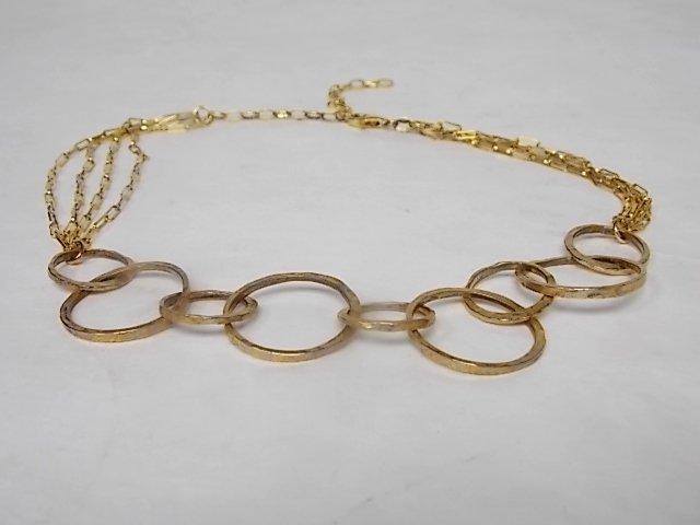 Vintage Estate Sterling Silver Gold-plated Necklace
