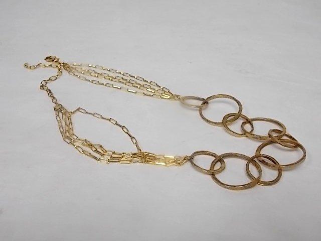 Vintage Estate Sterling Silver Gold-plated Necklace - 2