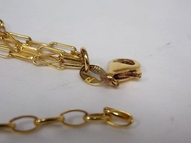 Vintage Estate Sterling Silver Gold-plated Necklace - 3