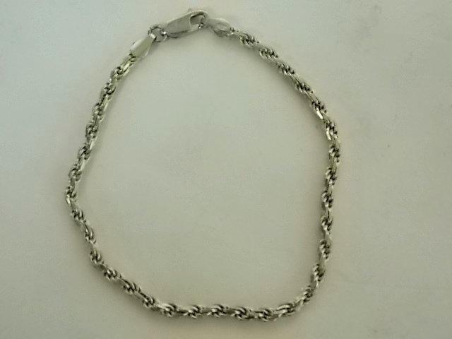 Women's Vintage Estate  Sterling Silver Rope Bracelet