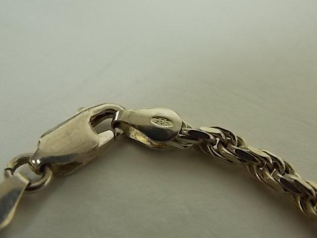 Women's Vintage Estate  Sterling Silver Rope Bracelet - 2