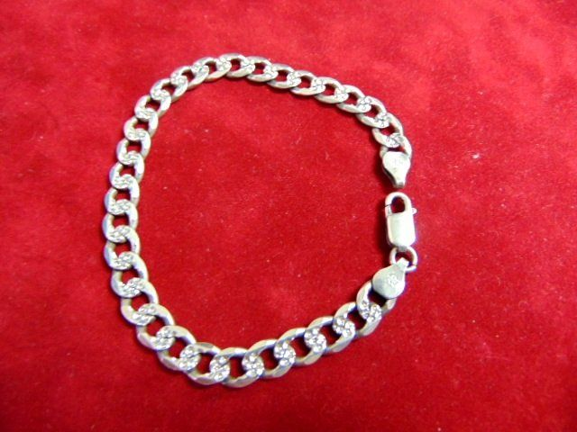 Sterling Silver Chain Bracelet Made In Italy