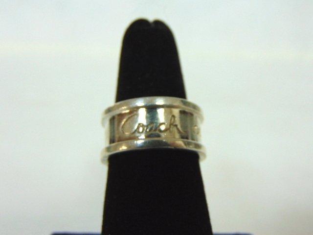 Vintage Estate Sterling Silver Coach Ring