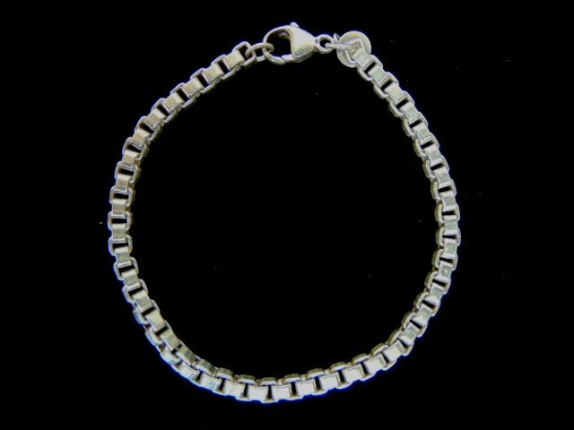 Sterling Silver Tiffany & Co Box Link Bracelet