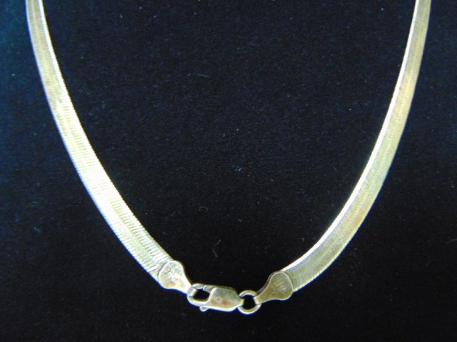 Vintage Estate Women's Sterling Silver Italian Necklace - 4