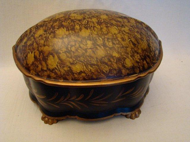 "Faux Tortoise Shell Jewelry Box, 11"" X 9"" X 7 1/2""h"
