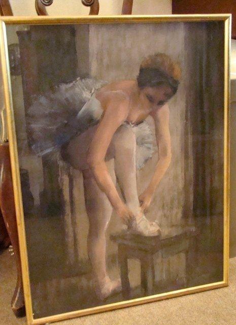 "Pierre Letellier, ""Balerina"", Guache and graphite, sign"