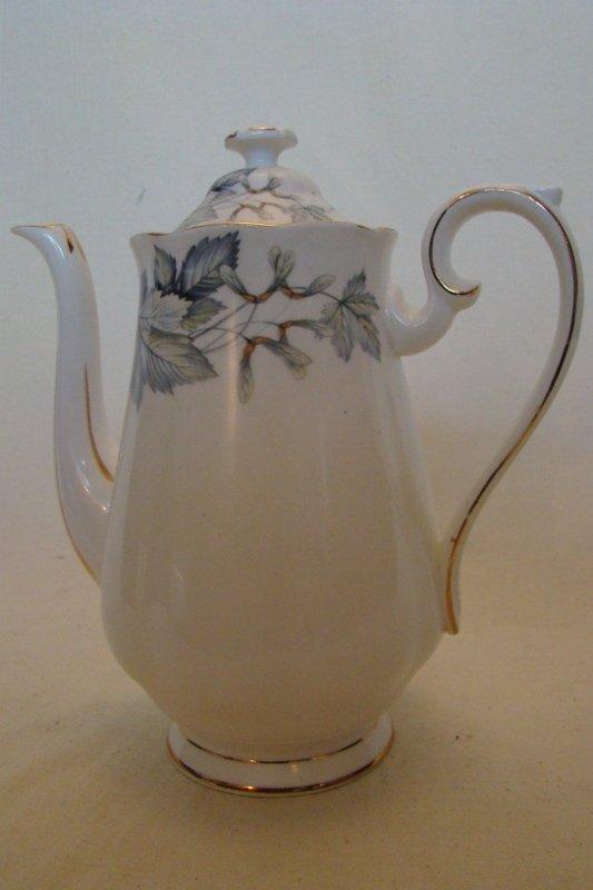 """Royal Albert, Coffee Pot, """"Silver Maple"""", 8 1/2""""h"""