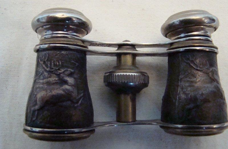 "Paris Opera, Vintage Binoculars, 2 1/2"" X 4"""