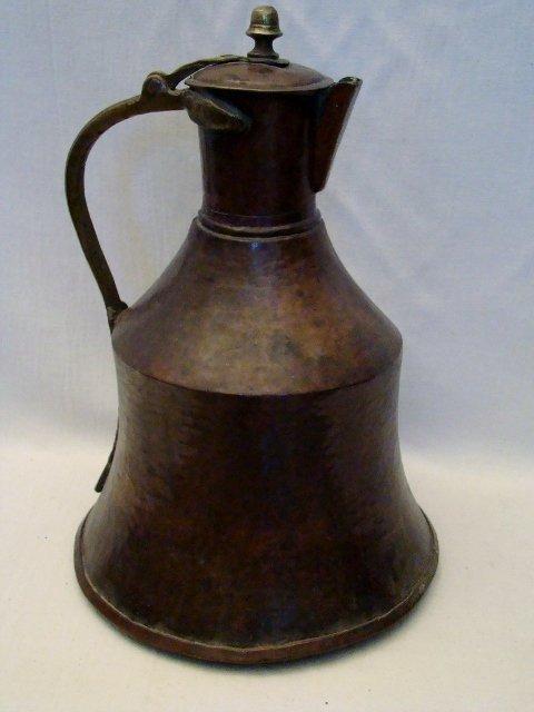 "Bronze and Copper Water Jug, 17""h X 12"" bottom diam. Ap"