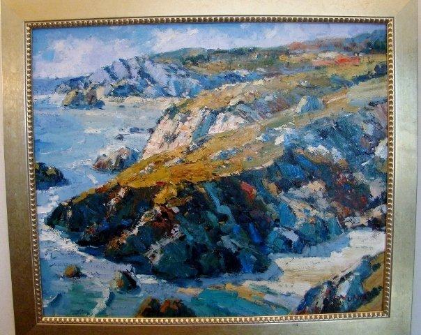 "Oil on Canvas by K.Yunia, ""Bretagne Francaise"", 24"" X 2"