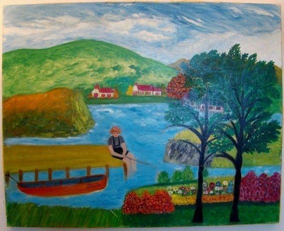 """Maude Lederman, oil on canvas, 24"""" X 30 ( unframed). Ma"""