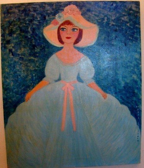 """Maude Lederman, oil on canvas, 24"""" X 20""""( unframed). Ma"""