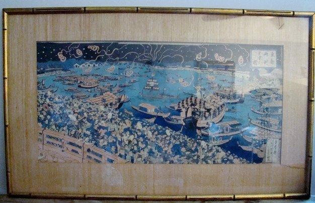 """Utagawa ( Ichieisai ) Yoshitsuya, """"Tyogoku Ohanabi no Z"""