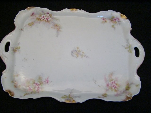 "Limoges FRANCE, Theo Haviland, Make up Tray, 12 1/2"" X"