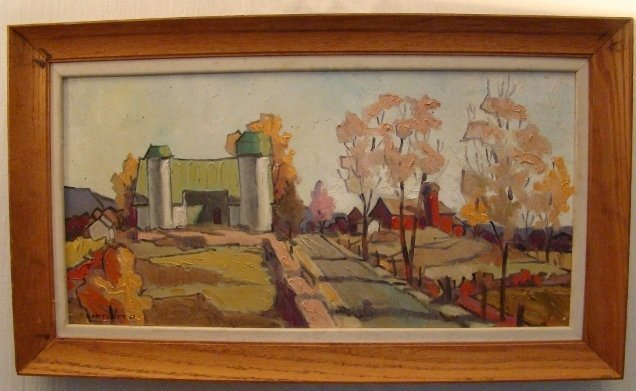 "Bartlett,Oil on Canvas, dated 1951, 28"" X 16"""