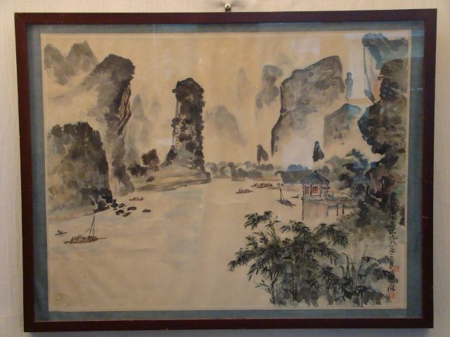 Chinese Watercolor on Paper circa 1930's, well signed w
