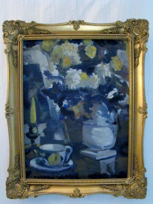 Martha Walter, 1880-1976.Still life, oil on canvas boar