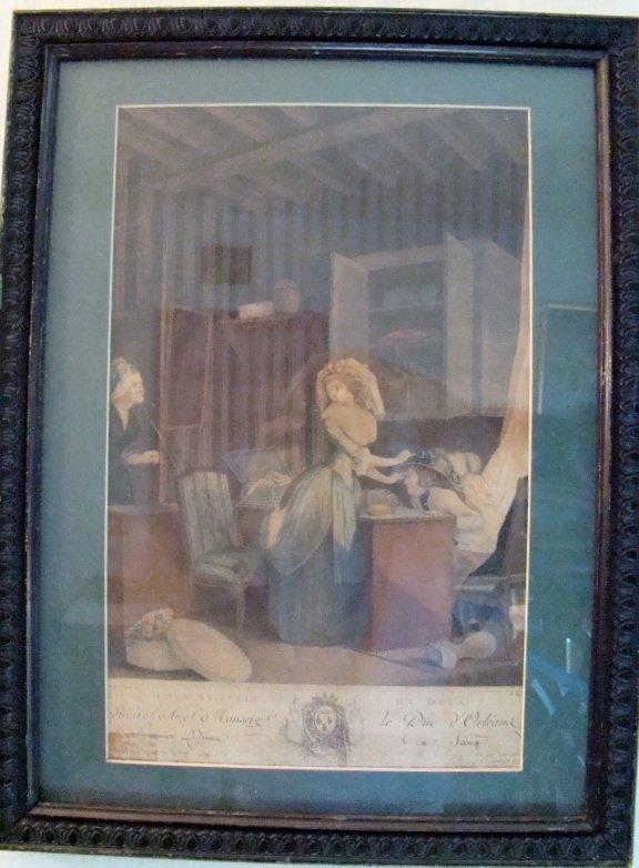 "Antique Engraving circa 1764 by Nicolas Lavreince. 15"""