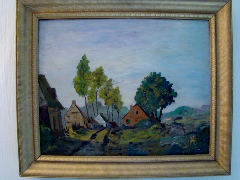 Ruth Blanche Miller, 1904-1978, Pastoral scene, oil on