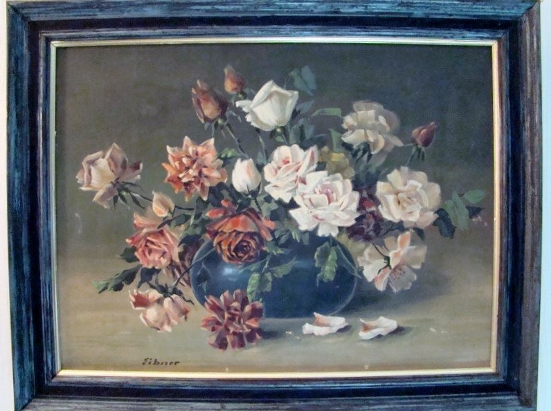 "Eibner F., oil on canvas board, Still Life, 22"" X 28"""