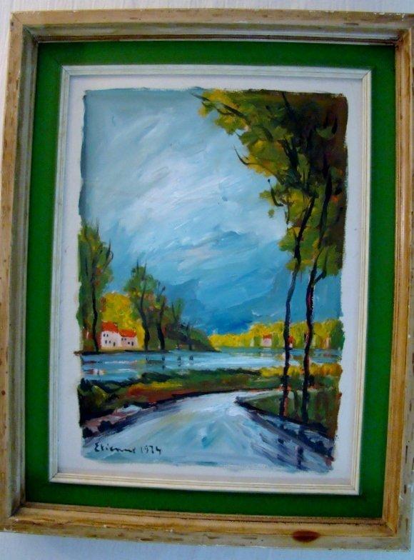 Etienne, XX th century French School. Oil on wood board