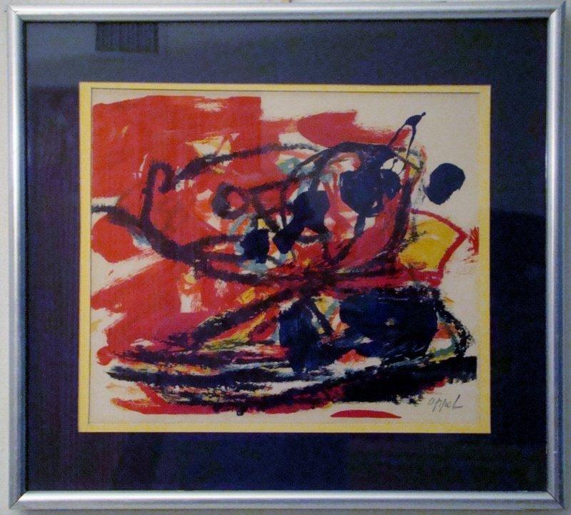 "Karel Appel, ""Musique Barbare"", 16"" X 17"", print"