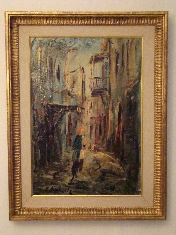 "Zvi Raphaeli, ""Jerusalem"", oil on canvas, 25""X33"""