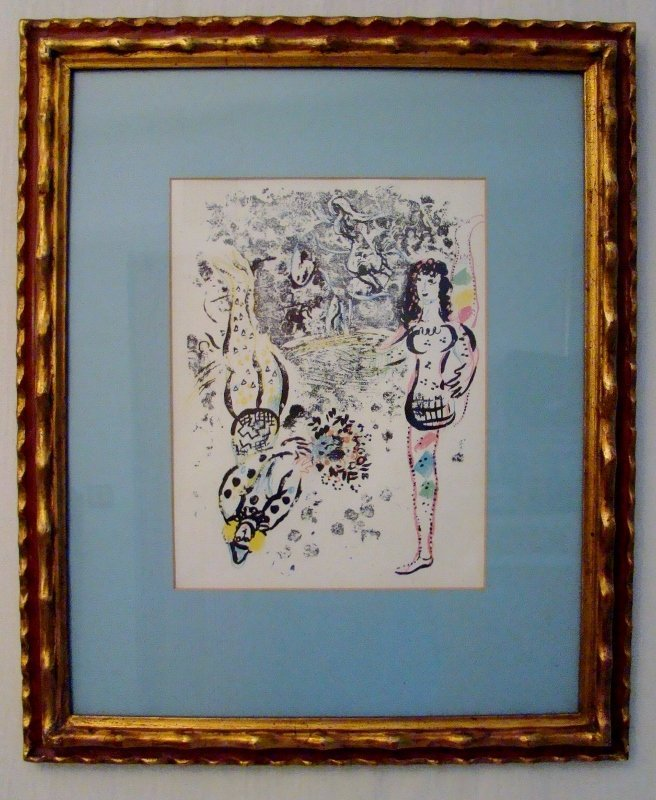 """Chagall, Print in Gold Frame, 19"""" X 23"""""""
