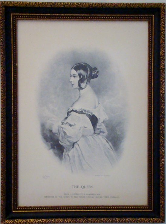 """"""" The Queen"""", Engraved by W.H.Simmons, from a sketch by"""