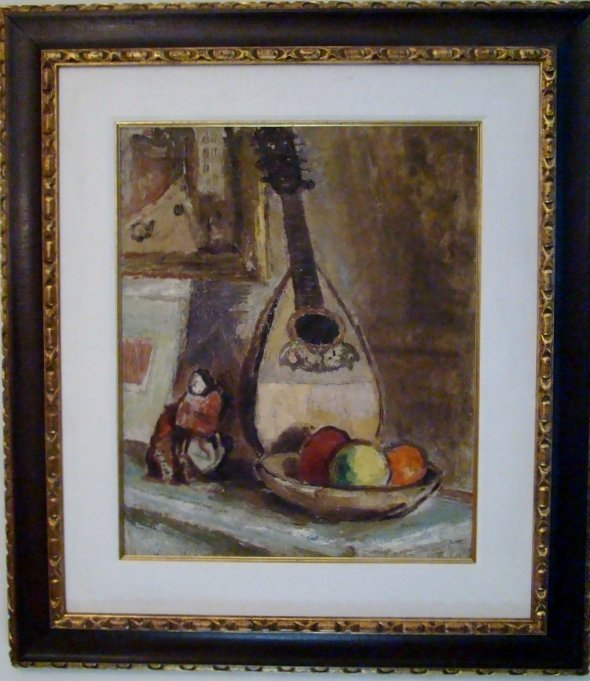 """Bernard Gussow (1881-1957), """"Still Life With Mandolin"""","""