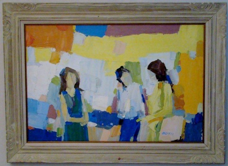 """Italo Botti, """"Untitled"""", Oil on Canvas. 24"""" X 36"""" - unf"""