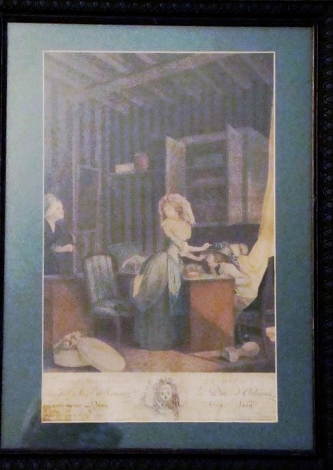 """Antique Engraving,1764, 15 1/4"""" X 20 1/4"""", French"""