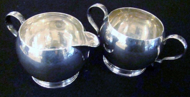 Sterling Silver Sugar and Creamer Set, stamped - sterli