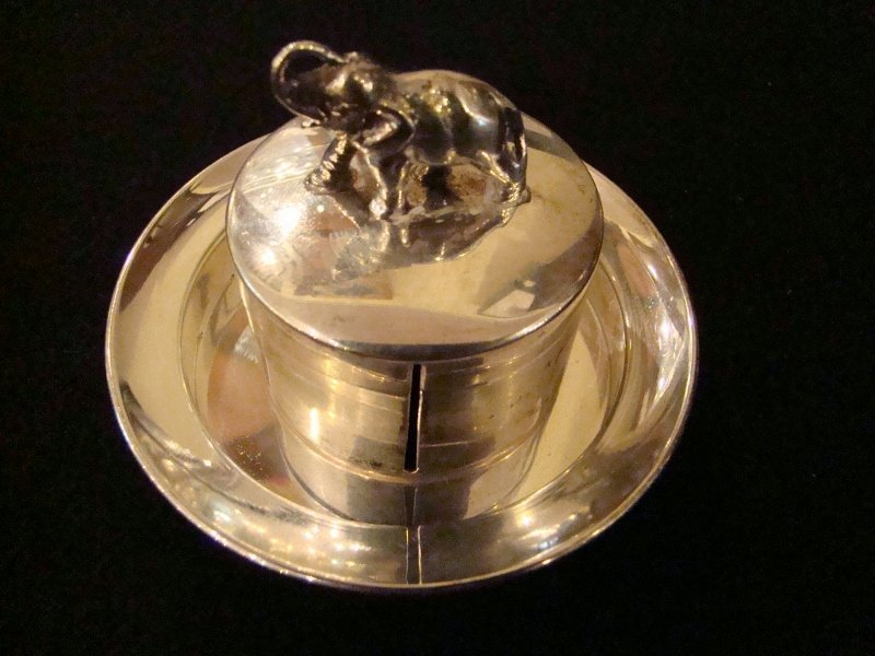 Herbst & Wassall Sterling Silver Stamp Dispenser with E