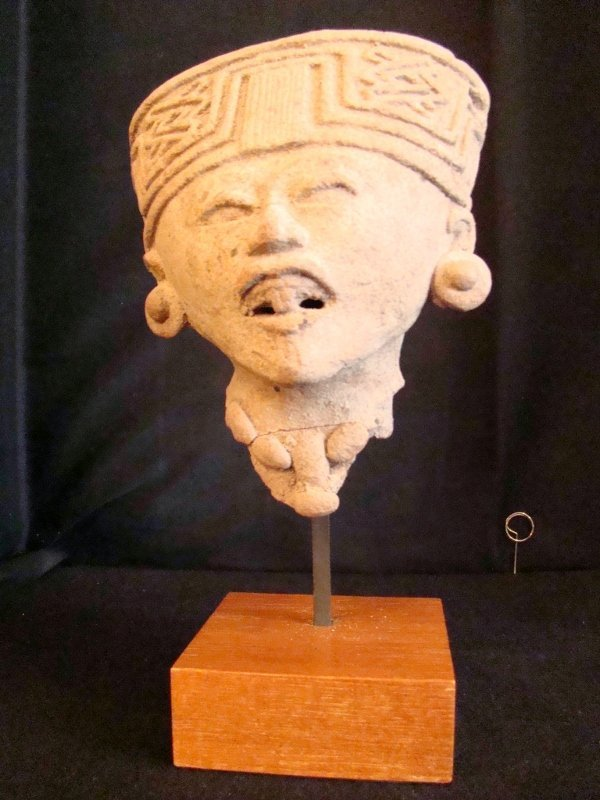 Pre Columbian, Jalisco, woman's Head with Head ornament