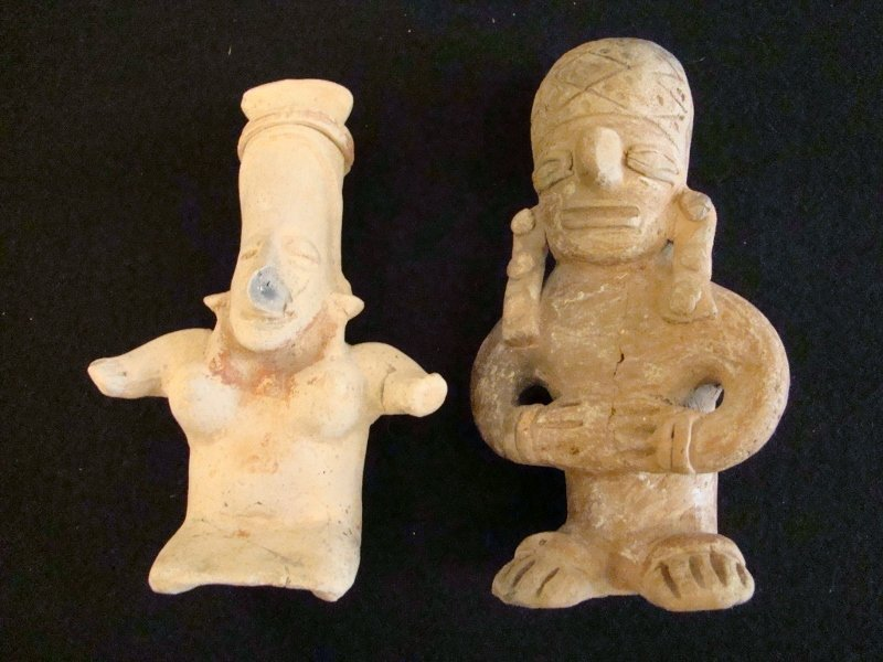 Pair of Pre Colombian Style Male & Female Figures