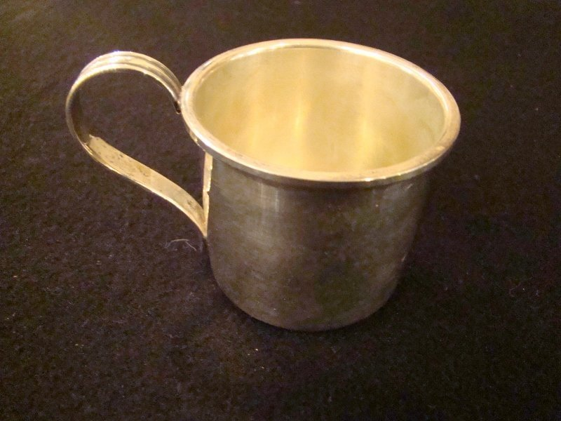 Cartier, Vintage Baby Cup (engraved - Wendy), stamped -