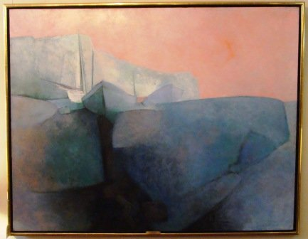 "Claude Gaveau, oil on canvas, 47\"" X 60\""H"