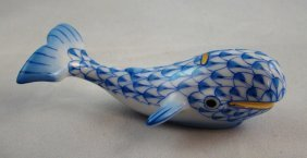 Herend, Blue Fishnet, Whale