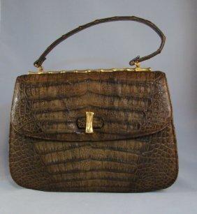 Lucille De Paris, Crocodile Handbag