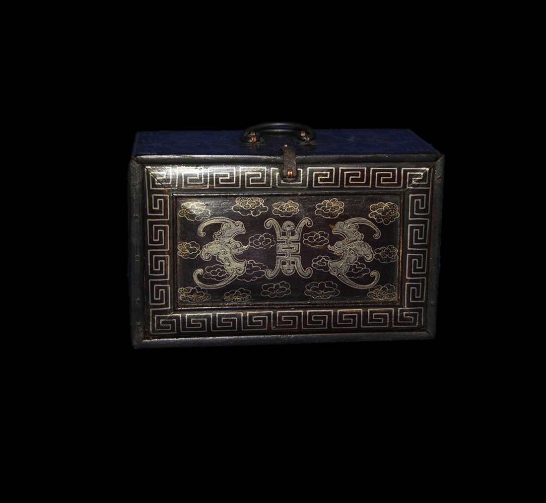An Important Qing Rose Wood Lacquer Box