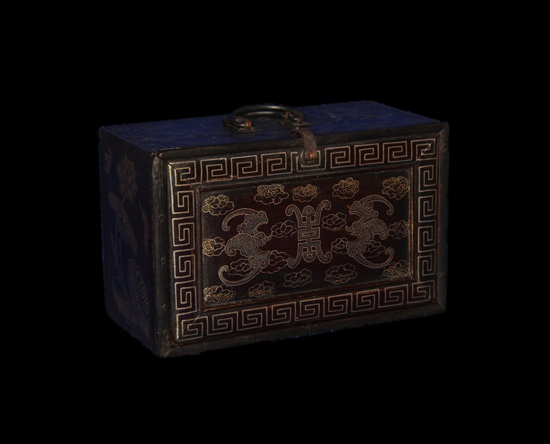 An Important Qing Rose Wood Lacquer Box - 2